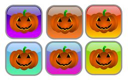 Halloween buttons Stock Photo