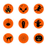 Halloween buttons Royalty Free Stock Images