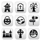 Halloween  buttons set Stock Photography