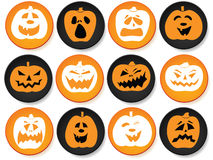 Halloween buttons set Royalty Free Stock Photos