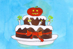 Halloween cake Stock Photography