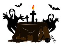 Halloween cake Stock Image