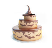 Halloween cake 3d Illustrations Royalty Free Stock Image