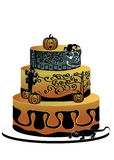 Halloween-cake met gekko's Vector Illustratie