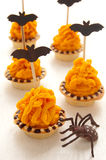 Halloween cake with orange cream Royalty Free Stock Images