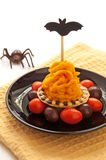Halloween cake with orange cream Royalty Free Stock Photo