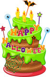 Halloween Cake. Cake for Halloween on a white background Royalty Free Stock Photography