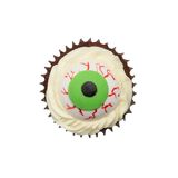 Halloween cake, zombie eyes Royalty Free Stock Photo