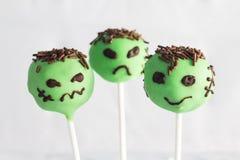 Halloween cakepops Royaltyfria Foton