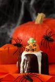 Halloween cakes. On orange serviette Stock Photography
