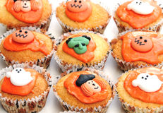 Halloween cakes. Shot of some halloween cakes on a white background Stock Photography