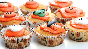 Halloween cakes. Shot of some halloween cakes on a white background Royalty Free Stock Photos