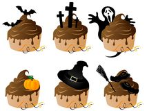Halloween cakes Royalty Free Stock Photo