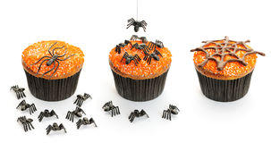 Halloween cakes set Stock Photos