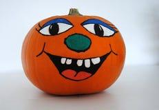 Halloween - calabaza con la cara feliz Imagen de archivo libre de regalías