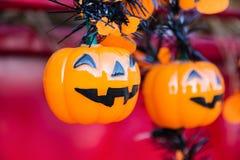 Halloween, calabazas y paisaje de Halloween Imagenes de archivo