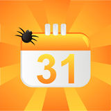 Halloween calendar background. With spider Stock Photography