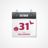 Halloween calendar background Stock Photos
