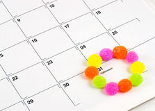 Halloween Calendar Candy Stock Images