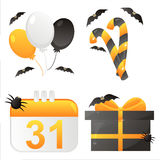 Halloween calendar icons. Set of 4 halloween calendar icons Stock Photo
