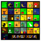 Halloween calendar. Royalty Free Stock Photo