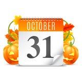 Halloween Calendar Stock Photos