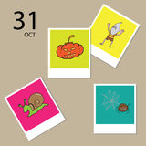 Halloween calendar trick or treat Royalty Free Stock Images