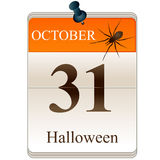 Halloween calendar Royalty Free Stock Photography