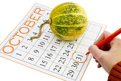 Halloween calendar Stock Photo
