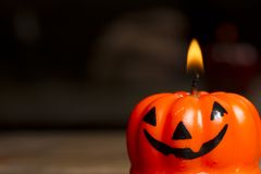 Halloween candle Royalty Free Stock Photo