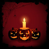 Halloween candle Stock Photo