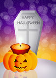 Halloween candle Royalty Free Stock Photography