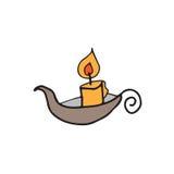 Halloween candle. Lamp retro design Stock Image