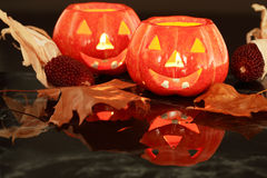 Halloween candle-light Stock Photography