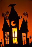 Halloween candle shadow Stock Photography
