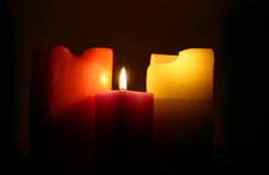 Halloween candles. Candles atmosphere for a present about halloween party Royalty Free Stock Photography