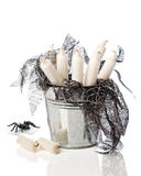 Halloween Candles In Bucket Stock Photo