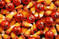 Halloween candy. And pumpkin candy Royalty Free Stock Photography