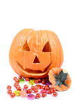 Halloween Candy. And pumpkin stock images