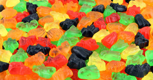 Halloween candy background. Halloween shape sweets background - witches, pumpkins, bats, ghosts Stock Images