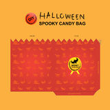 Halloween candy bag diy 3 Royalty Free Stock Photography