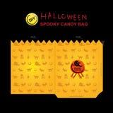 Halloween candy bag diy4 Stock Image