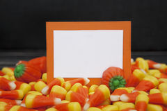 Halloween Candy with Blank Card Stock Images