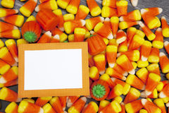 Halloween Candy with Blank Card Stock Image