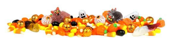 Halloween candy border royalty free stock photos