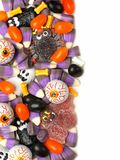 Halloween candy border Stock Photos