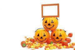 Halloween Candy con la carta in bianco Immagine Stock