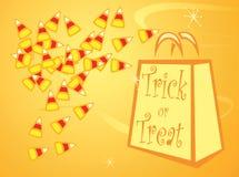 Halloween candy corn Stock Image