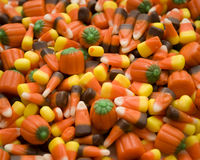 Halloween Candy Corn. Traditional Halloween colorful candy corn Stock Images
