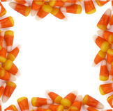 Halloween - Candy Corn Border. A halloween border frame made of up candy corn Stock Photography